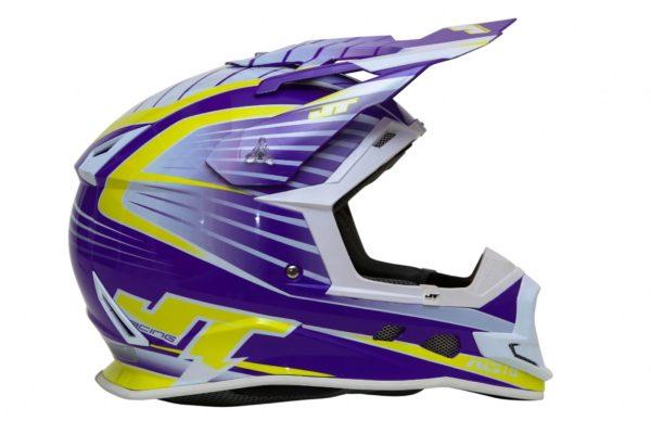 Шлем кроссовый  ALS1.0 фиолетовый фото 2