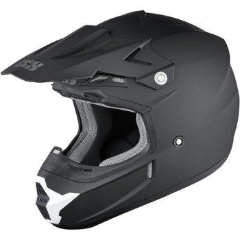 Шлем кроссовый HX 261 THUNDER черный фото 1