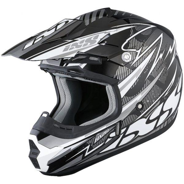 Шлем кроссовый HX 261 THUNDER серый фото 1