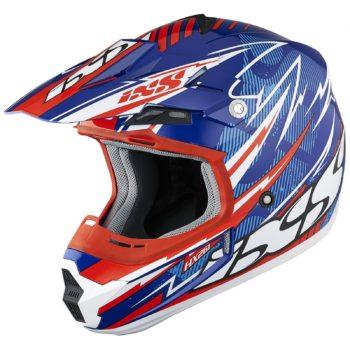 Шлем кроссовый HX 261 THUNDER синий фото 1
