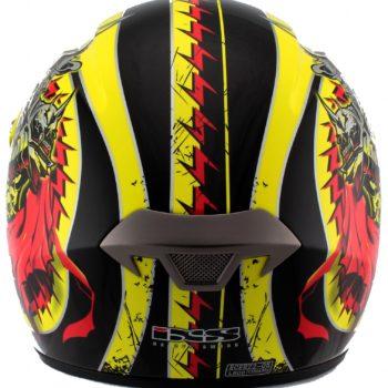Шлем кроссовый HX276 SWORD красно-желтый фото 2