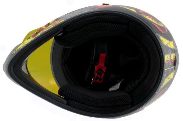 Шлем кроссовый HX276 SWORD красно-желтый фото 4