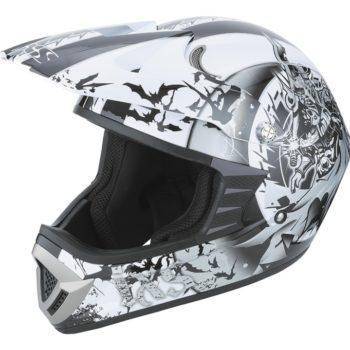 Шлем кроссовый HX276 SWORD серо-белый фото 1
