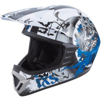 Шлем кроссовый HX276 SWORD сине-белый фото 1