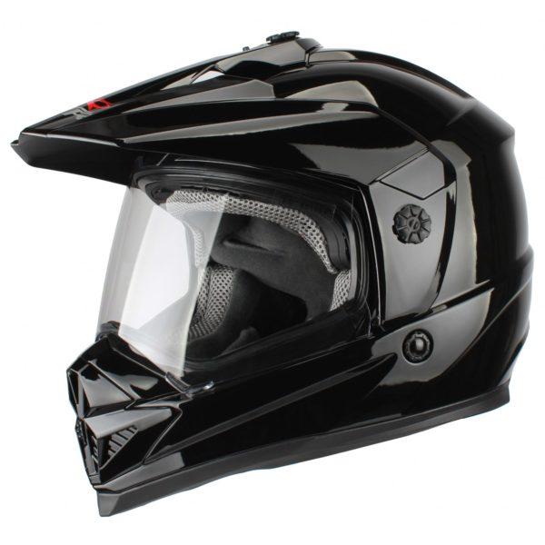 Шлем кроссовый со стеклом DSE1 черный фото 1
