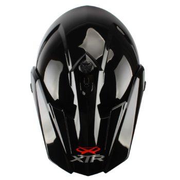 Шлем кроссовый со стеклом DSE1 черный фото 2