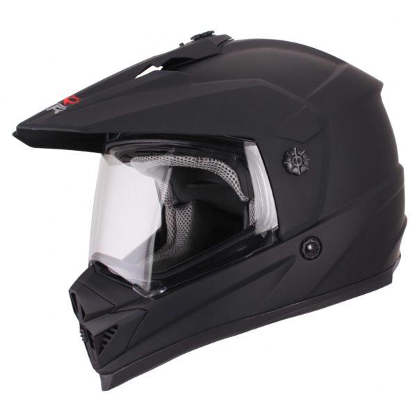 Шлем кроссовый со стеклом DSE1 черный матовый фото 1