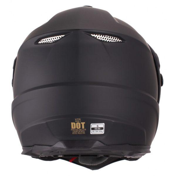 Шлем кроссовый со стеклом DSE1 черный матовый фото 3