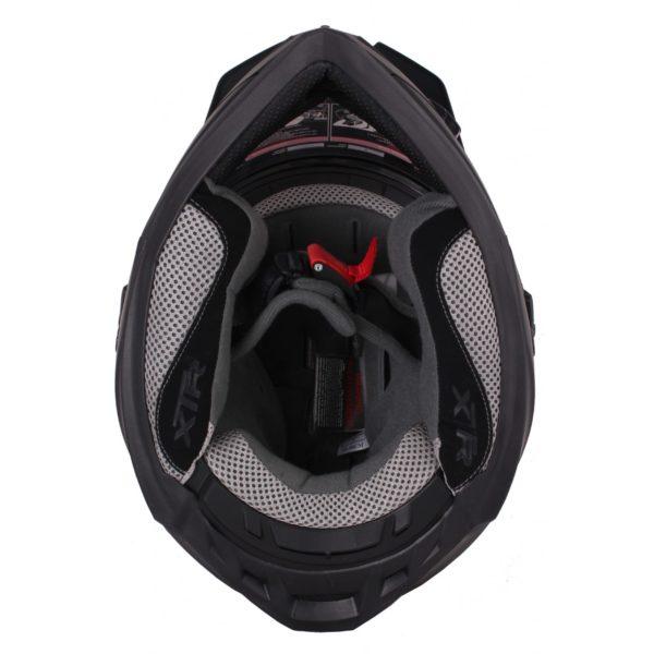 Шлем кроссовый со стеклом DSE1 черный матовый фото 4