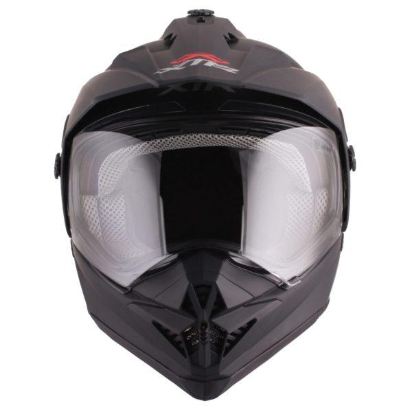 Шлем кроссовый со стеклом DSE1 черный матовый фото 5