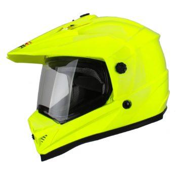 Шлем кроссовый со стеклом DSE1 флуоресцентнно-желтый фото 1
