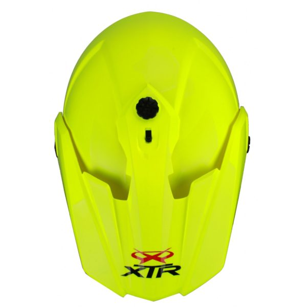 Шлем кроссовый со стеклом DSE1 флуоресцентнно-желтый фото 2