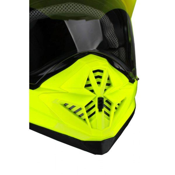 Шлем кроссовый со стеклом DSE1 флуоресцентнно-желтый фото 3