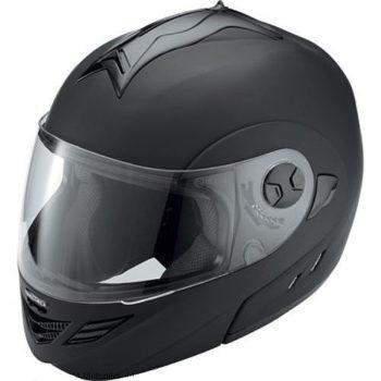 Шлем модуляр HX333 чёрный матовый фото 1