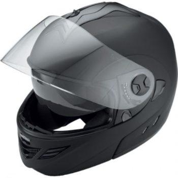 Шлем модуляр HX333 чёрный матовый фото 2