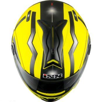 Шлем модуляр HX333 STROKE желто-черный фото 2