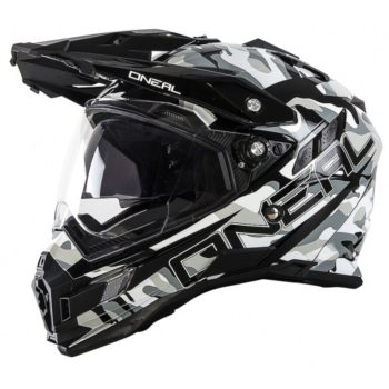 Шлем Sierra Adventure Helmet SNIPER чёрно-белый фото 1