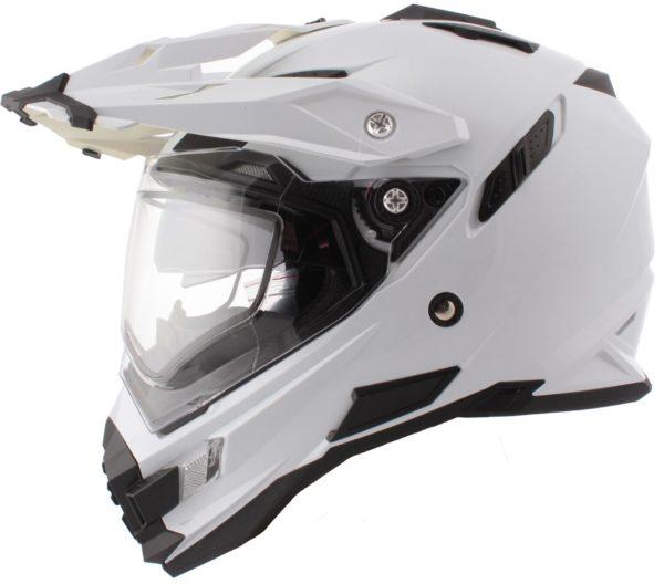 Шлем Sierra белый с пинлоком+дефлектор дыхания фото 1