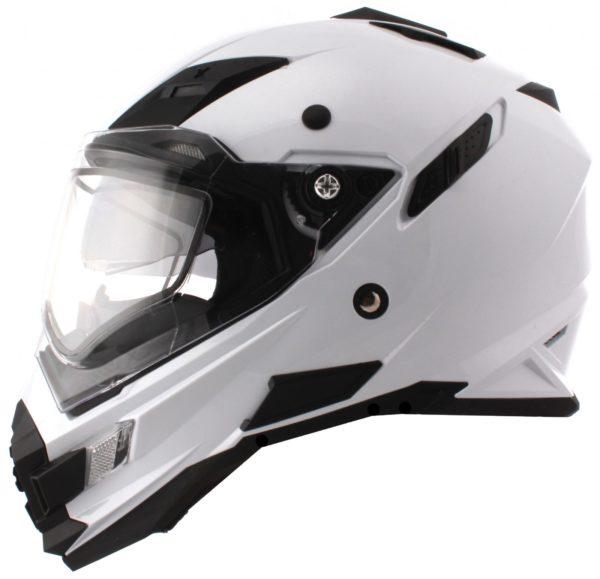 Шлем Sierra белый с пинлоком+дефлектор дыхания фото 3
