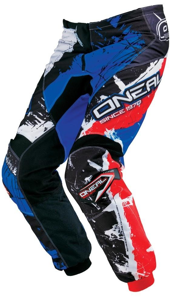 Штаны Elements SHOCKER чёрно-красно-синие фото 1