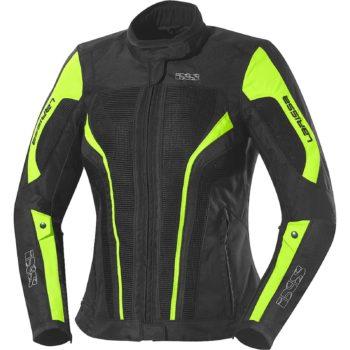 Текстильная женская куртка Larissa чёрная/флуоресцентно-желтая фото 1