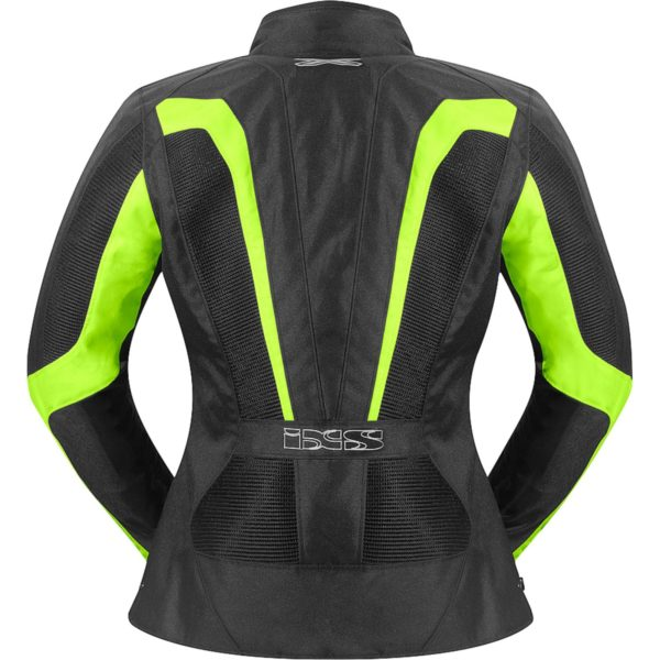 Текстильная женская куртка Larissa чёрная/флуоресцентно-желтая фото 2