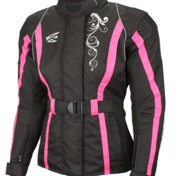 Текстильная женская куртка Mistic черно-розовая фото 1