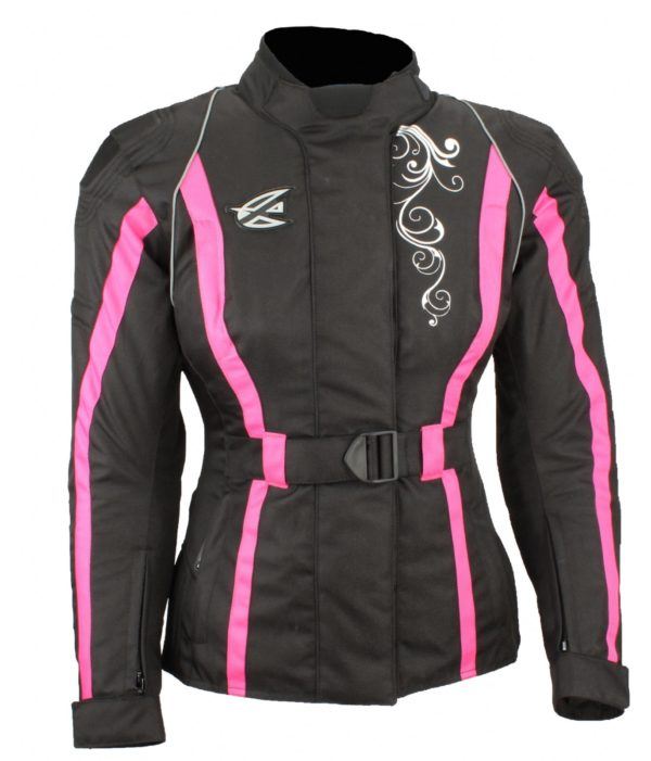 Текстильная женская куртка Mistic черно-розовая фото 2