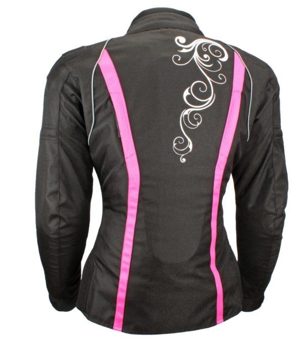 Текстильная женская куртка Mistic черно-розовая фото 3