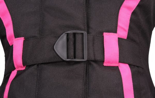 Текстильная женская куртка Mistic черно-розовая фото 5