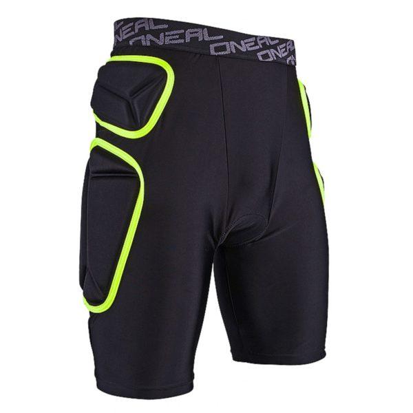 Защитные шорты Trail Short чёрно-зеленые лайм фото 4