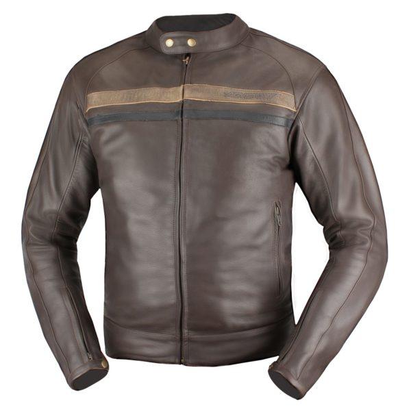 Кожаная куртка Brut коричневая фото 1