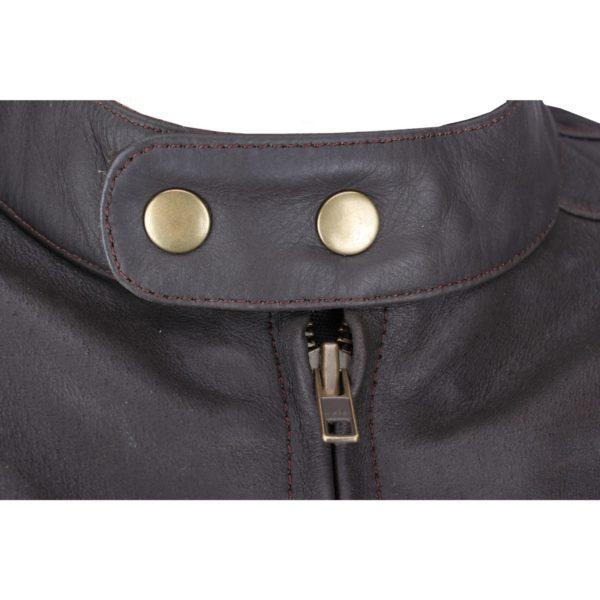 Кожаная куртка Brut коричневая фото 4