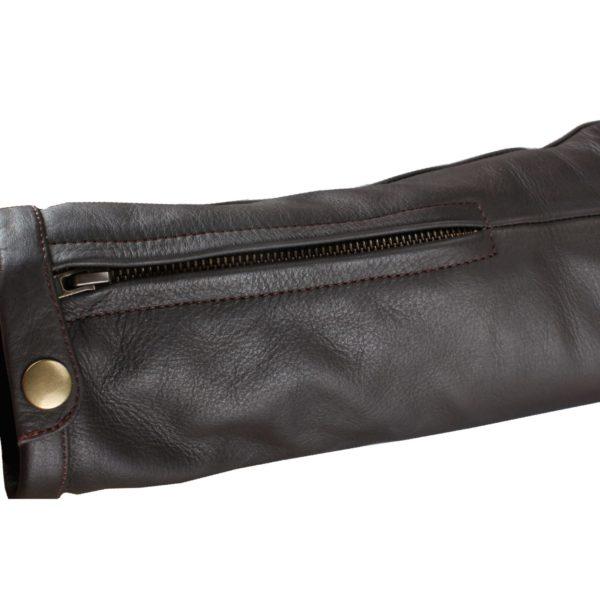 Кожаная куртка Brut коричневая фото 7