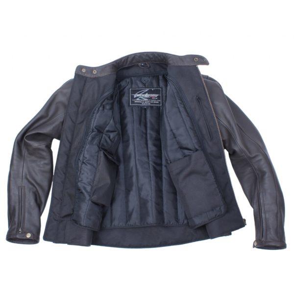 Кожаная куртка Brut коричневая фото 8