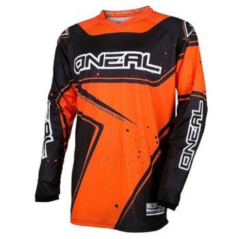Джерси ELEMENT RACEWEAR чёрно-оранжевая фото 1