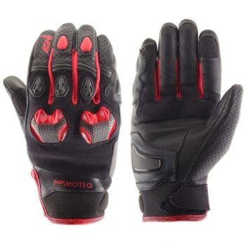 Кожаные перчатки Stinger красные фото 1