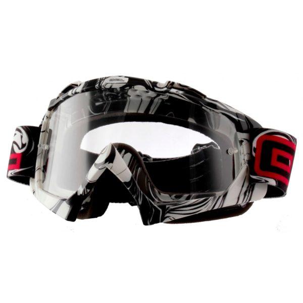 Кроссовая маска B-Flex HENDRlX черно-белая фото 1