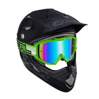 Кроссовая маска B1 RL FLAT зеленая/радиум фото 2