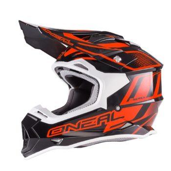 Кроссовый шлем 2Series MANALISHI чёрно-оранжевый фото 1