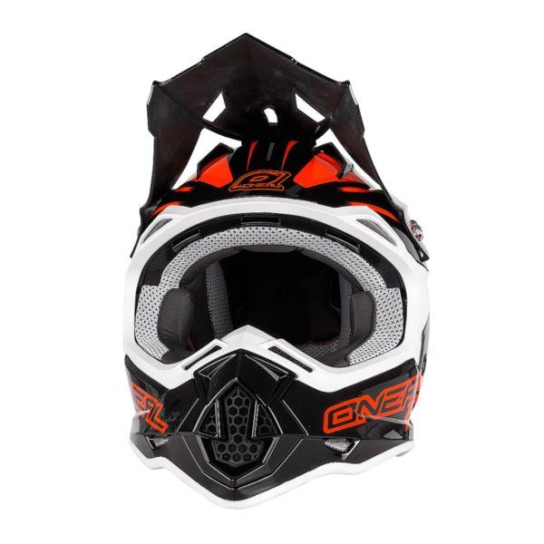 Кроссовый шлем 2Series MANALISHI чёрно-оранжевый фото 2