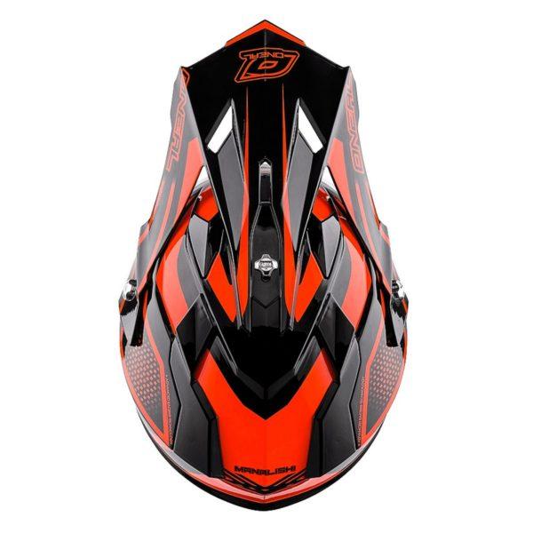 Кроссовый шлем 2Series MANALISHI чёрно-оранжевый фото 3