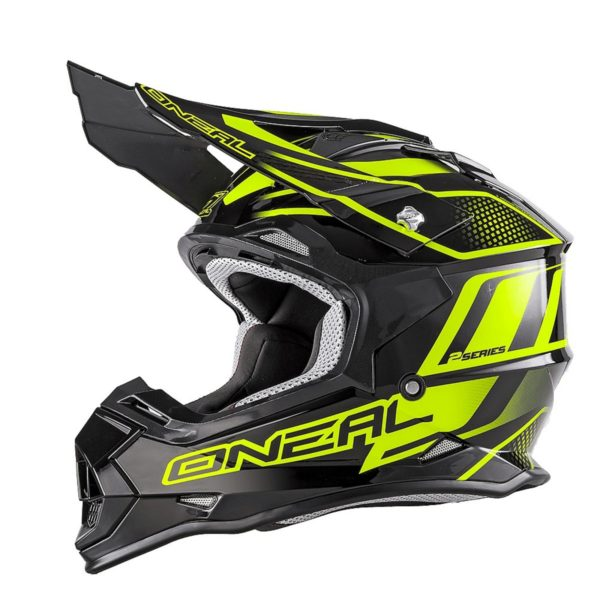 Кроссовый шлем 2Series MANALISHI чёрно-желтый флуоресцентный фото 1