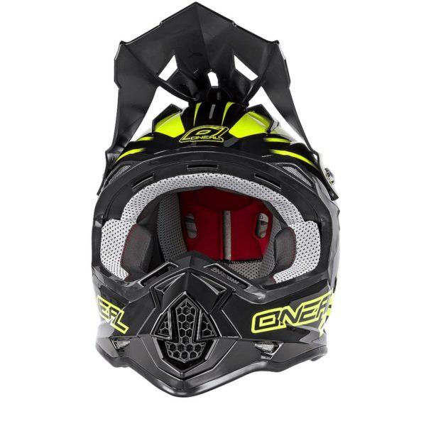 Кроссовый шлем 2Series MANALISHI чёрно-желтый флуоресцентный фото 2