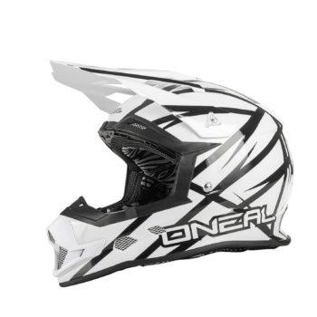 Кроссовый шлем 2Series THUNDERSTRUCK чёрно-белый фото 1