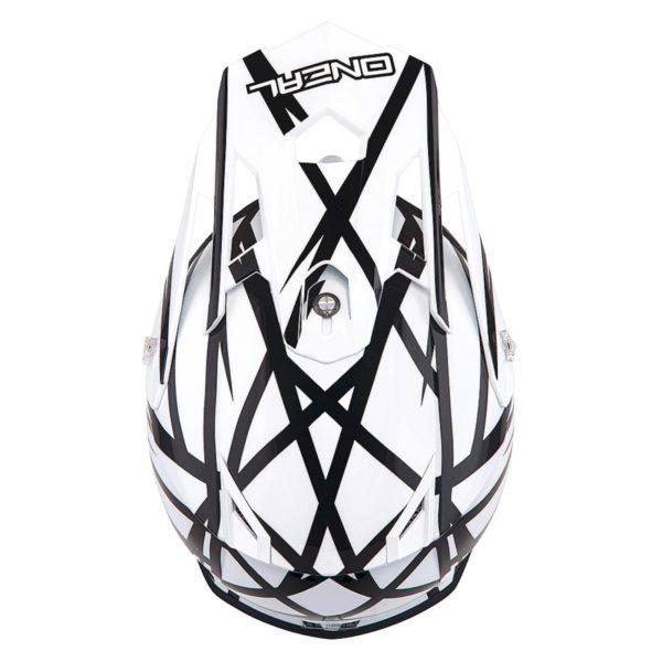 Кроссовый шлем 2Series THUNDERSTRUCK чёрно-белый фото 2