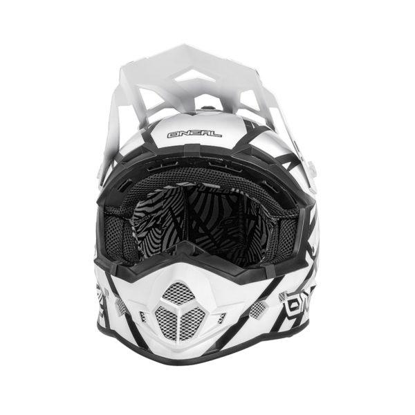 Кроссовый шлем 2Series THUNDERSTRUCK чёрно-белый фото 3