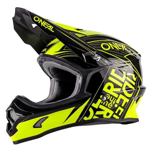 Кроссовый шлем 3Series FUEL чёрно-флуо-желтый фото 1