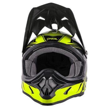 Кроссовый шлем 3Series FUEL чёрно-флуо-желтый фото 2
