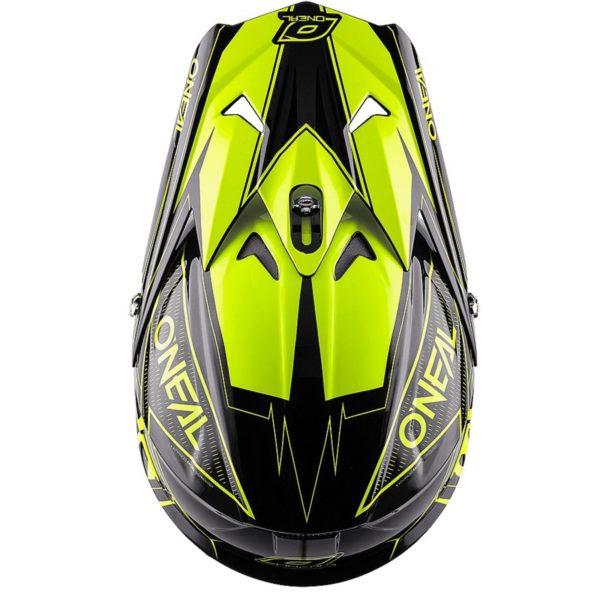 Кроссовый шлем 3Series FUEL чёрно-флуо-желтый фото 3
